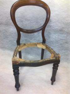 restauratie oude stoel